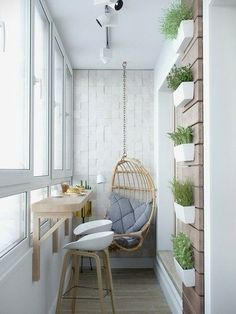 › Apartment furniture for small spaces. Stylish Apartment Redesign in Minsk. Small Balcony Design, Small Balcony Decor, Balcony Ideas, Tiny Balcony, Balcony Plants, Balcony Garden, Balcony Bar, Balcony House, Narrow Balcony