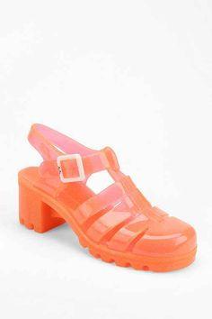 JuJu Footwear Babe Jelly Heeled Sandal - Urban Outfitters