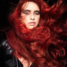 A fiery redhead color how-to from TIGI.