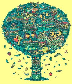 Owls tree by NELLOFORESTO, via Flickr