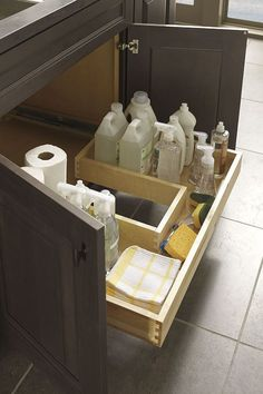 Under counter obstructions like plumbing and electrical wiring need not cause designing dead ends thanks to the new Decora U-Shaped Drawer modification.