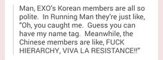 #EXO #EXO-K #EXO-M on Running Man