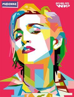 Madonna in Wedha's pop art portrait Art And Illustration, Illustrations Posters, Voka Art, Pop Art Dibujos, Divas Pop, Cartoon Makeup, Sketch Manga, Madonna Art, Pop Art Wallpaper