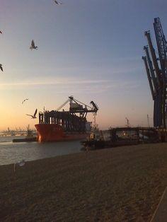 Felixstowe Dock at Sunset