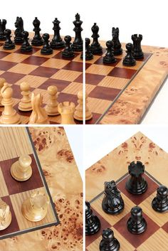Marquetry Chess Board Set