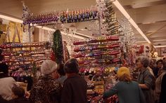 Woolworth's decorations. Wouldn't it be a blast to time travel back to this very spot? Brand new {vintage} Christmas decorations for super cheap prices?