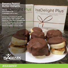 Banana Peanut butter Delights http://andriacable.isagenix.com