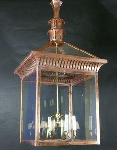 Reproduction - Large Copper Lantern