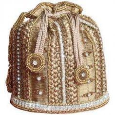 Beautiful Golden Potli Bag
