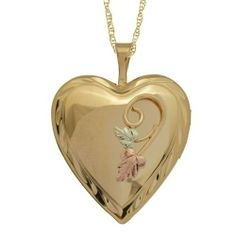 Black Hills Gold by Coleman Gold Heart Locket Black Hills Gold Jewelry, Silver Jewelry, Gold Jewellery, Heart Pendant Necklace, Gold Necklace, Heart Pendants, Gold Heart Locket, Necklace Online, Heart Jewelry