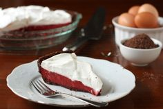Red Velvet Pudding Pie by Completely Delicious, via Flickr