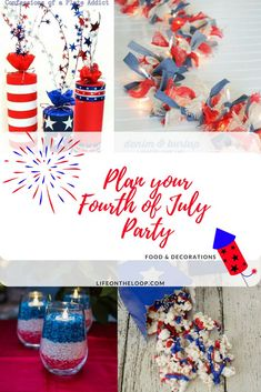 of july party ideas fourth of july decorations food 4th Of July Desserts, Fourth Of July Food, 4th Of July Party, 4th Birthday Parties, July 4th, July 4 Birthdays, 4th Of July Photos, Blue Crafts, Patriotic Decorations