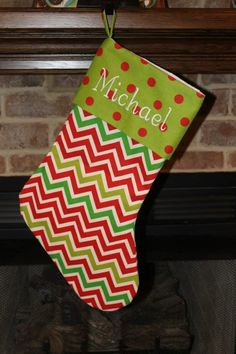 Personalized Christmas Stockings Embroidered