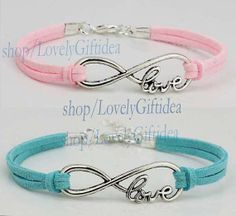 Silver infinity bracelet Love jewelry Infinity with love word charm Lover,Bridesmaid gift wedding jewelry Graduation,Friendship Wholesale by LovelyGiftidea, $0.99