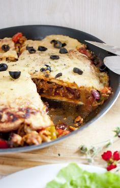 Low Carb schnelle mexikanische Pfannkuchen Pizza – Low Carb Köstlichkeiten