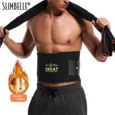 196ca29a29 Sweat Premium Waist Trimmer For Men   Women Hot Shapers Sauna Waist Trainer  Corset Body Shaper Black Slimming Belt