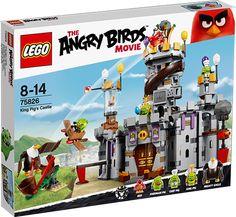LEGO Angry Birds 75826 Grisekongens borg Konstruktionssæt med LEGO klodser: LEGO Angry Birds Grisekongens borg (75826)Grisekongen har stjålet æggene og forbereder en fest! Gør klar til seriøst fjerkræ-sjov, når du sender Red af sted fra katapulten mod borgen og ser grisene styrte ned! Flyv Mighty Eagle ind med et sus, men pas på TNT-kassen med vinger. Skynd dig til toppen af tårnet, og red æggene, før de glider ned i gryden. Stop kokkegrisen i at sætte kogte æg på menuen, og disk selv op med…