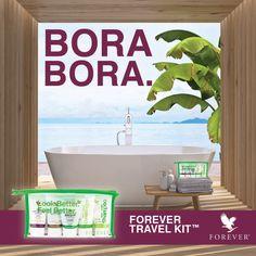 FOREVER TRAVEL KIT #2 : LET'S GO BORA BORA ! Vos produits favoris à base d'Aloe Vera partout avec vous !