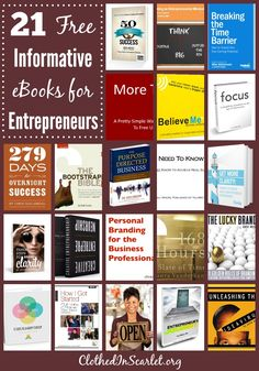 In order to build your business and hone your entrepreneur skills, it is recommended that you read books from those who've been successful in business. Here are 21 Free Informative eBooks for Entrepreneurs..that I am sure will help you grow your business.