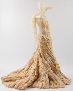 """""""Oyster Dress"""" Alexander McQueen (British, 1969–2010) Date: spring/summer 2003 Culture: British Medium: silk"""