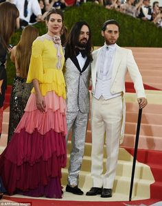 Charlotte, Michelle Alessandro and Jared Leto.