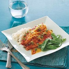 Oven-Baked Ginger-Soy Tilapia | MyRecipes.com (5-Stars). Ingredients: fillets, ginger, soy sauce, sesame oil, pepper