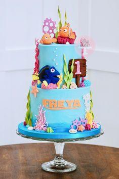 Finding Nemo Cake, Birthday Ideas, Birthday Cake, Custom Cakes, Bakery, 1, Desserts, Food, Personalized Cakes