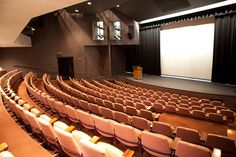 Auditorium, World Trade Center Portland. Can seat up to 220 people.