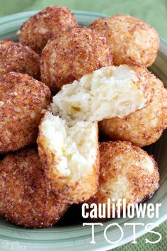 These cauliflower tots are so delicious and a big hit with the kids.