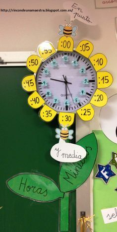 This Pin was discovered by ÉvaThese pictures remind me when i was in elementary school, my mother helped me more .Corner of a teacher: wristwatchesThis math facts activity withI love how this teacher put the multiplication facts for around the clock, too 1st Grade Math, Kindergarten Math, Primary Education, Kids Education, English Activities, Preschool Activities, Math Clock, Teaching Time, Math Facts