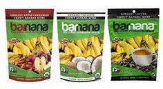 Barnana Organic Chewy Banana Bites 3 Flavor Variety Bundle: (1) Barnana Apple Cinnamon, (1) Barnana Coffee, and (1) Barnana Coconut, 3.5 Oz. Ea. (3 Bags Total)