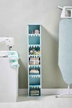 Turn an old CD tower into stunning fabric storage // Homemaker, Issue 45 // Image: cliqq.co.uk