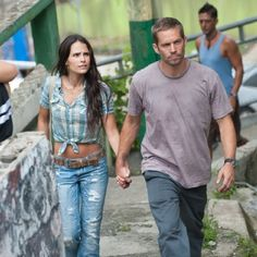 Jordana Brewster and Paul Walker in Fast Five