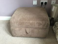 DFS Amber range mocha footstool with storage