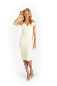 Tempest Pam Skirt | Ivory Pencil Skirt | Cream Midi Skirt - Polyvore