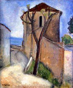 Tree and Houses Amedeo Modigliani - 1919