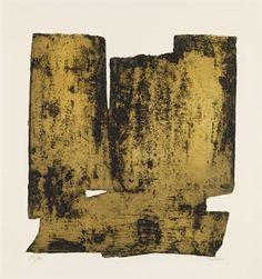 Eau forte XII - Artist: Pierre Soulages   Completion Date: 1957  Style: Tachisme  Genre: abstract painting  Technique: aquatint