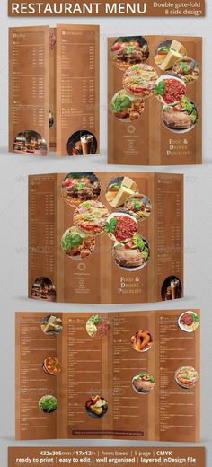 15 Free Restaurant Menu Templates \ Covers Photoshop Source - sample pizza menu template