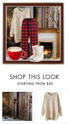 """Let it Snow!"" by vingananee ❤ liked on Polyvore featuring Restoration Hardware and Accessorize"