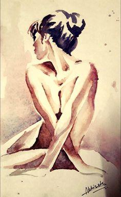 Nude #Minimalistic Watercolor @dabhisek570