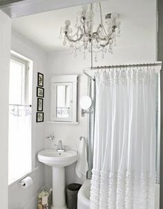 So cute...perfect for a small bathroom with an added bit of glitz!