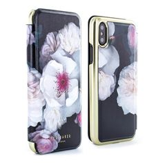 b47f62d9f Ted Baker NALIBISE Mirror Folio Case for iPhone X   XS - Chelsea (Black)