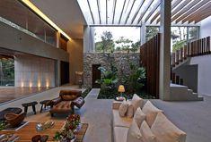 Tropical Garden Residence in Brazil beautiful residence living room