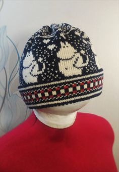NEW Wonderful hand-made winter hats with moomin by LanaNere Moomin, Weather Conditions, Nye, Your Child, Dark Blue, Winter Hats, Black White, Beanie, Organic