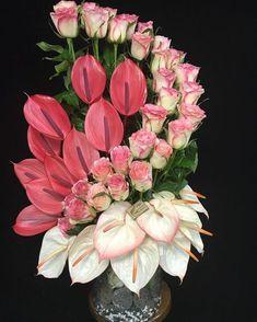 Beautiful Flowers Bouquet Tulips Printing Education For Kids Printer Referral: 3390243911 Valentine Flower Arrangements, Tropical Floral Arrangements, Creative Flower Arrangements, Flower Arrangement Designs, Church Flower Arrangements, Rose Arrangements, Beautiful Flower Arrangements, Flower Centerpieces, Flower Decorations