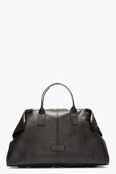 ALEXANDER MCQUEEN Black leather DE MANTA CARRY ALL Tote
