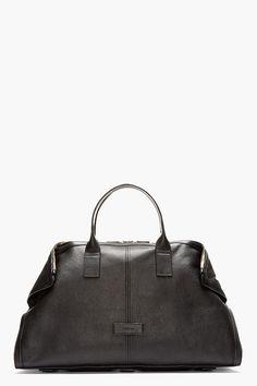 ALEXANDER MCQUEEN Black leather DE MANTA CARRY ALL Tote