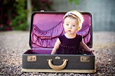 I have a suitcase for a picture like this someday :) Mine is tan with red interior!