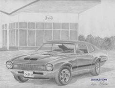 1972 Maverick Grabber MUSCLE CAR ART PRINT