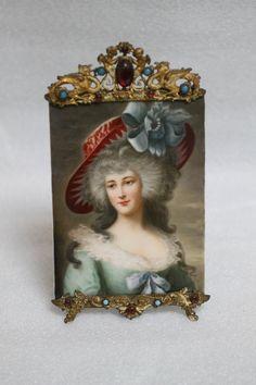 Lot 004 S78 - 19th C. European Porcelain Plaque w/ Gilt Frame - Est. $400-600 - Antique Reader